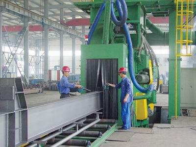 H Beam Steel Plate Profile Through Type Shot Blasting Cleaning Machine