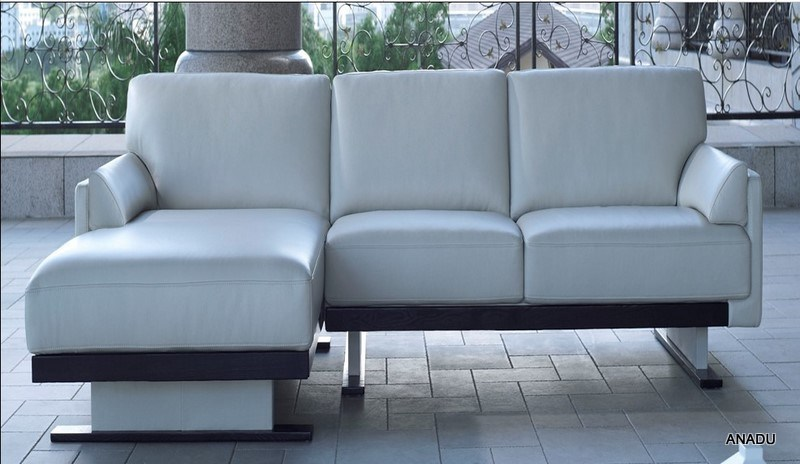 China Small Size Leather Sofa Corner Sofa Sl009 China