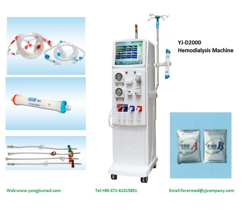 Yj-D2000 Factory Medical China Hemodialysis Machine Price with Double Pump