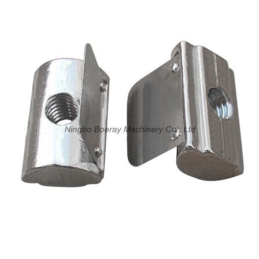 45 Series Aluminum Extrusion T Nut with Spring Leaf