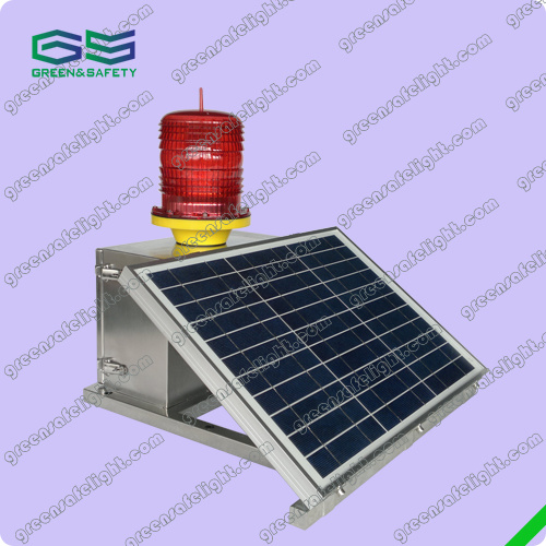 GS-MS/S Medium-Intensity Type B Solar Powered Aviation Obstruction Light