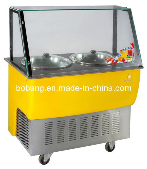 Ice Cream Frying Making Machine