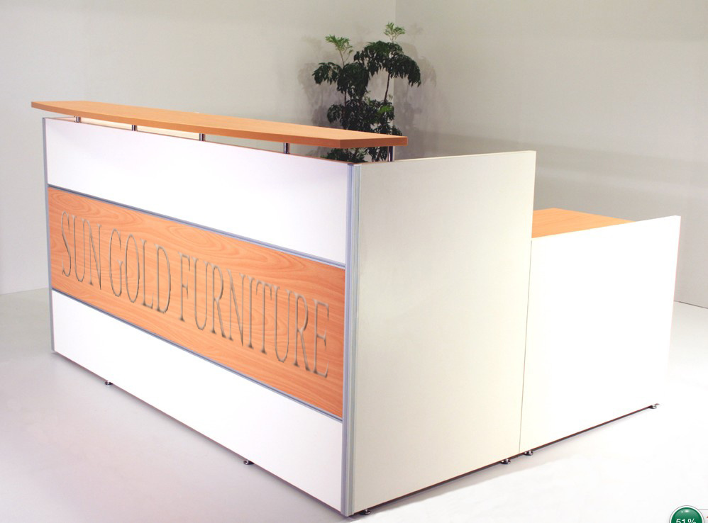china white orange reception stations reception desk