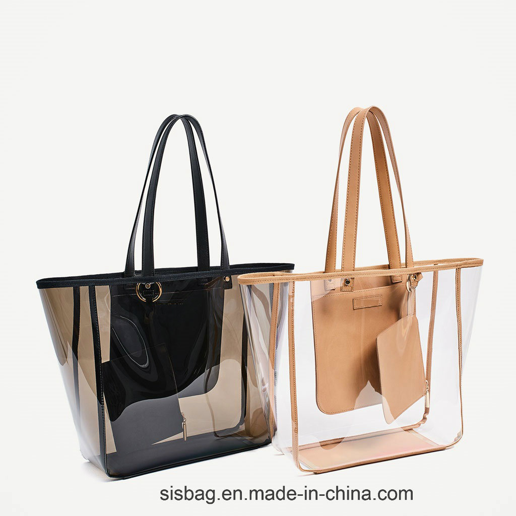 Clearly PVC Transparent Color Shopping Bag TPU Beach Bags