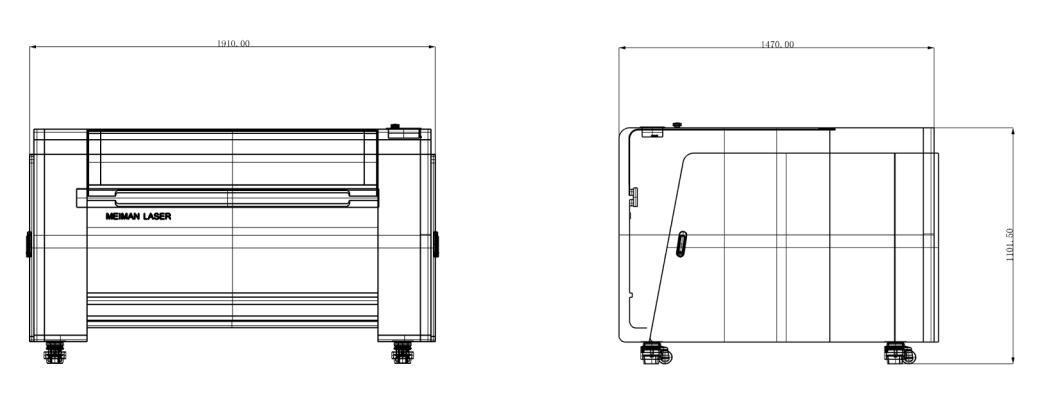 CO2 Laser Engraving & Cutting Machine (FM-E1309 120W)