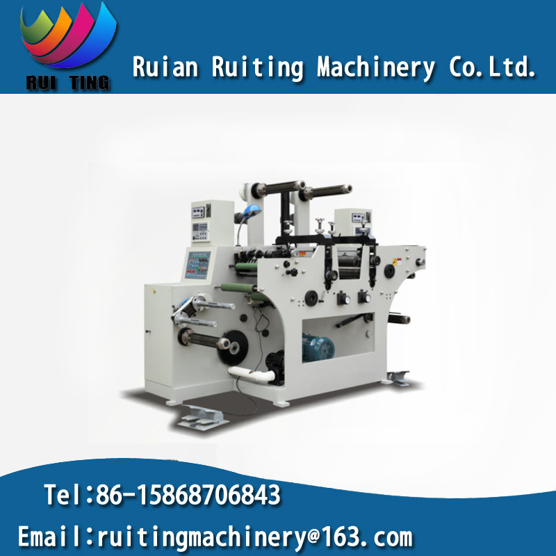 Rtqh-450 Two Rotary Die Cutting Station Machine with Slitting Set