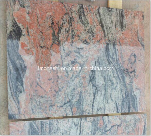 Multi-Color Red Granite Slab for Tile, Countertop, Tombstone