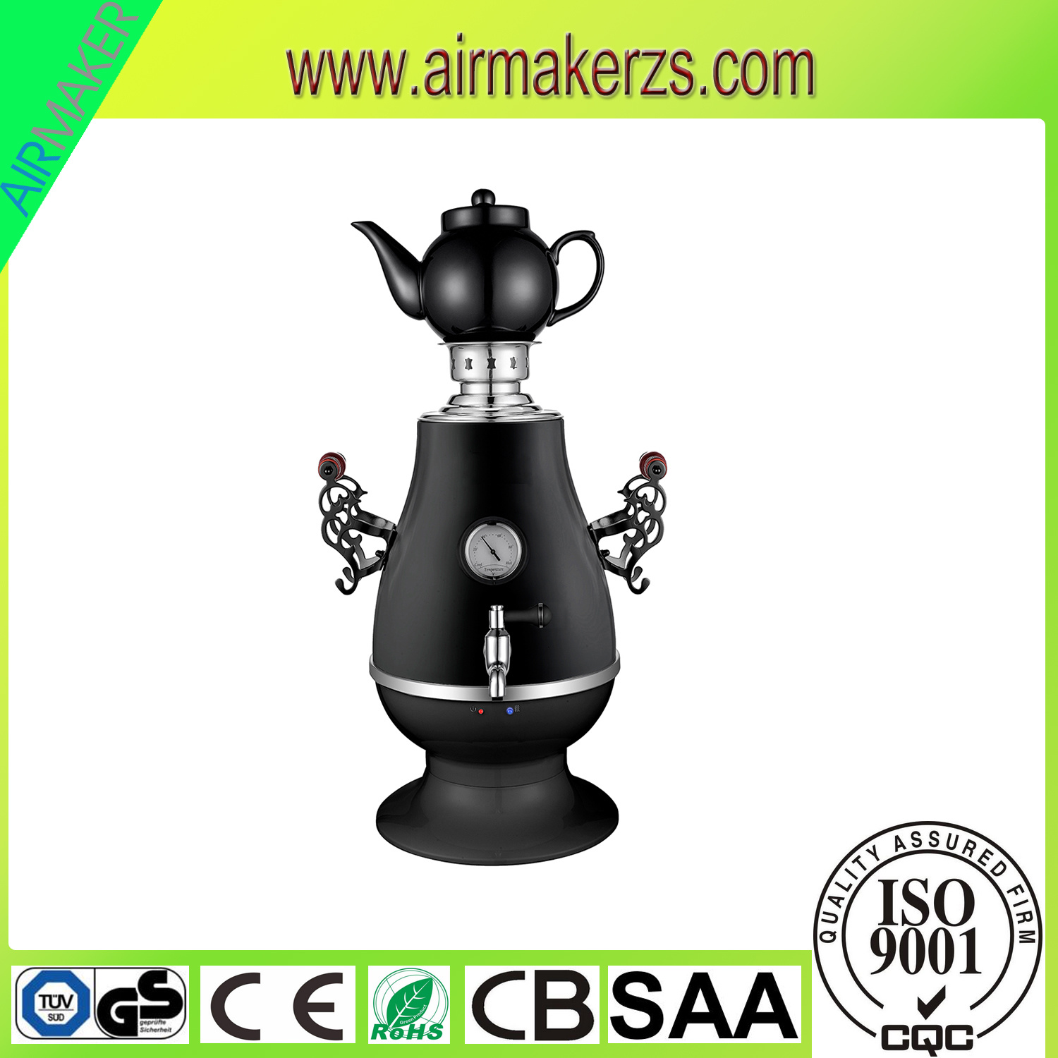 2016 High Quality Electric Samovar with Glass Cover