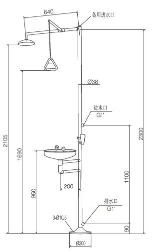 Safety Equipment, Stainless Steel Shower& Eye Wash