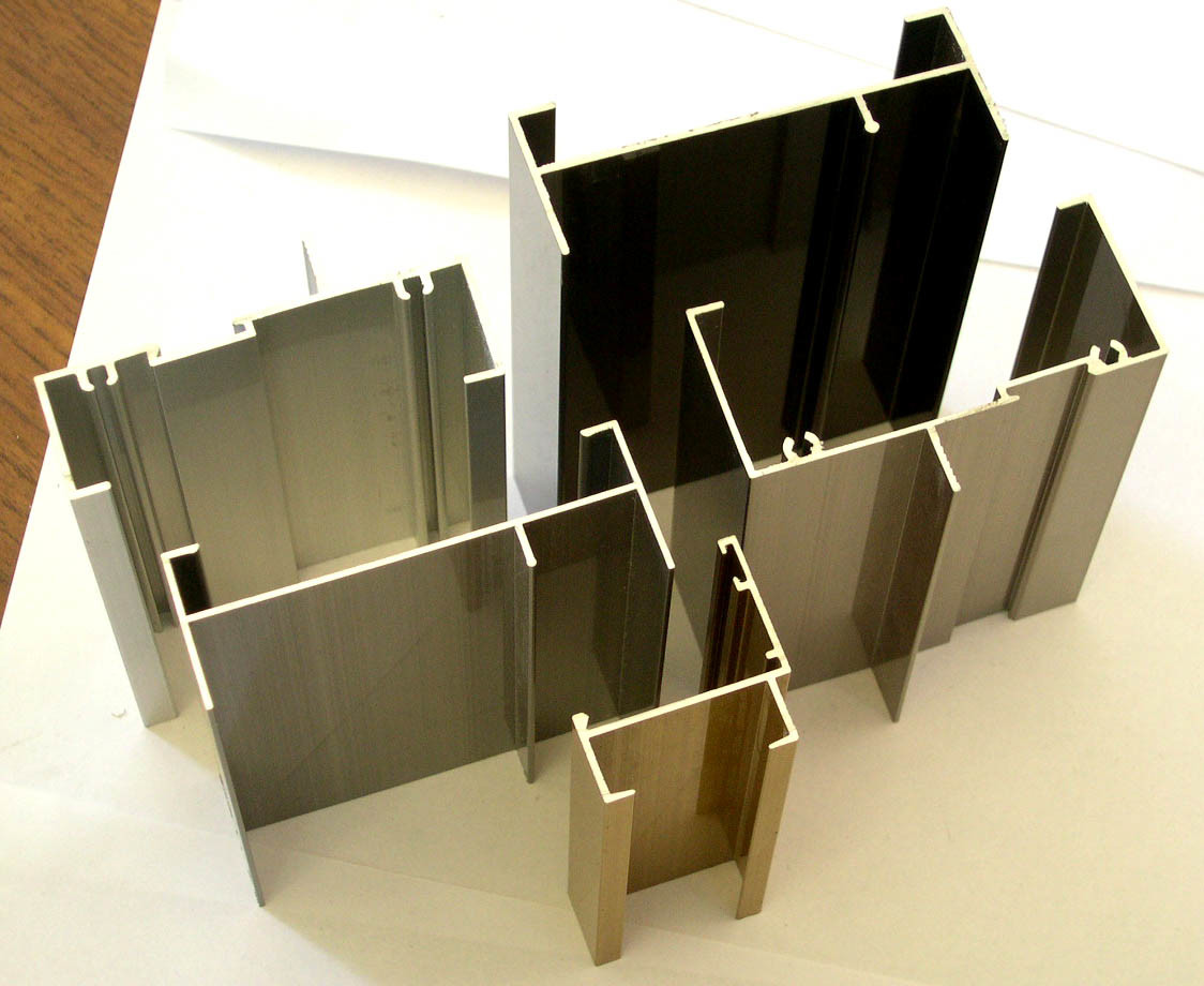 Powdercoated Aluminium Profiles for Aluminium Windows and Doors