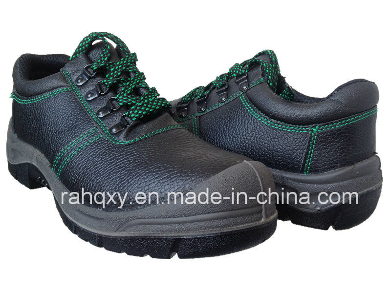 Professional Split Embossed Leather Safety Shoes (HQ01012)