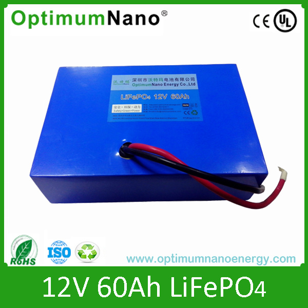 Rechargeable 12V 60ah Solar LiFePO4 Battery