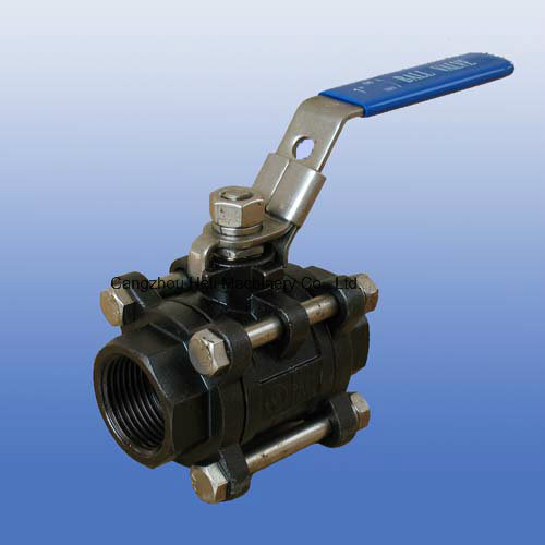 Carbon Steel Wcb 3PC Screw Ball Valve