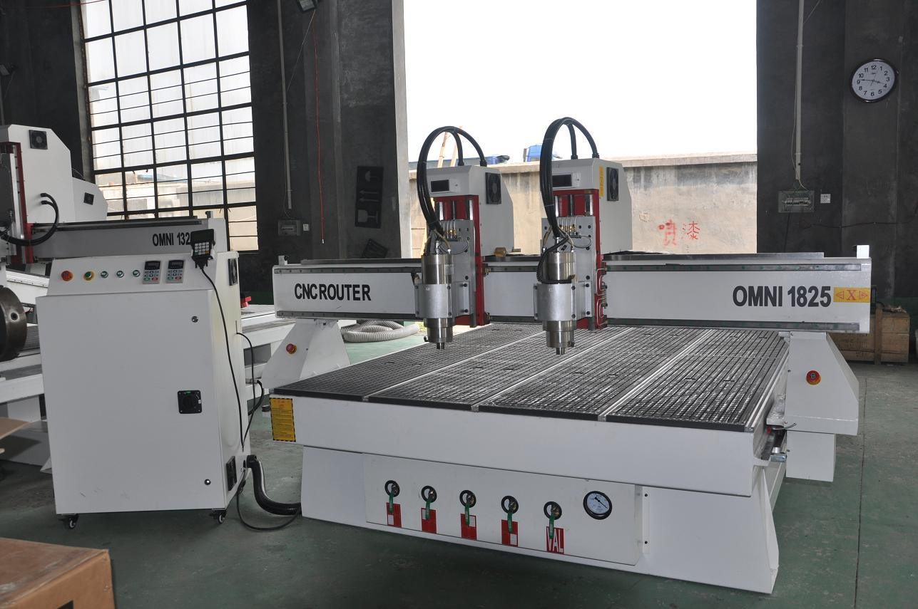 Omni 1300*2500mm Multi-Spindles Woodworking CNC Router