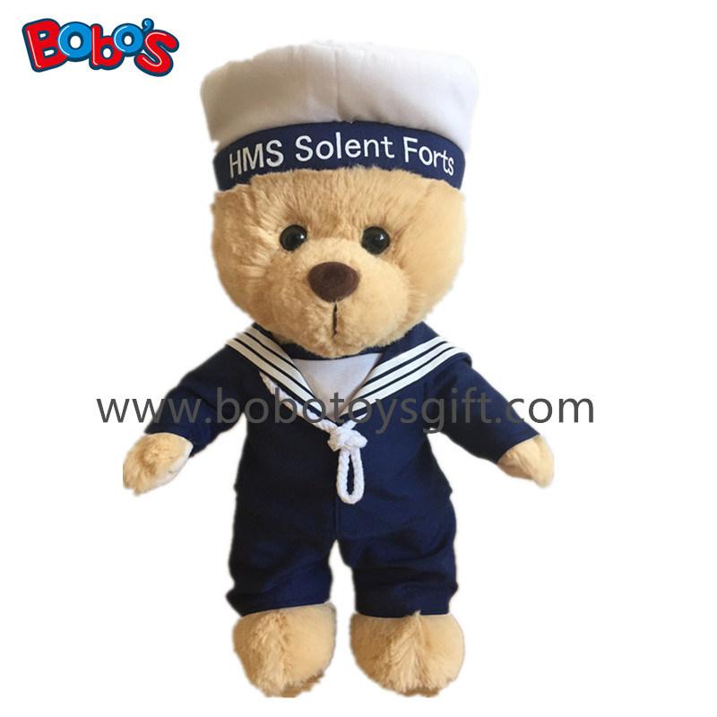 Custom Plush Sailor Teddy Bear Toy with Softest Material