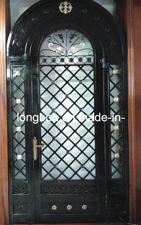 China 2012 classical iron grill door designs lb i d 0009 Grill main door design