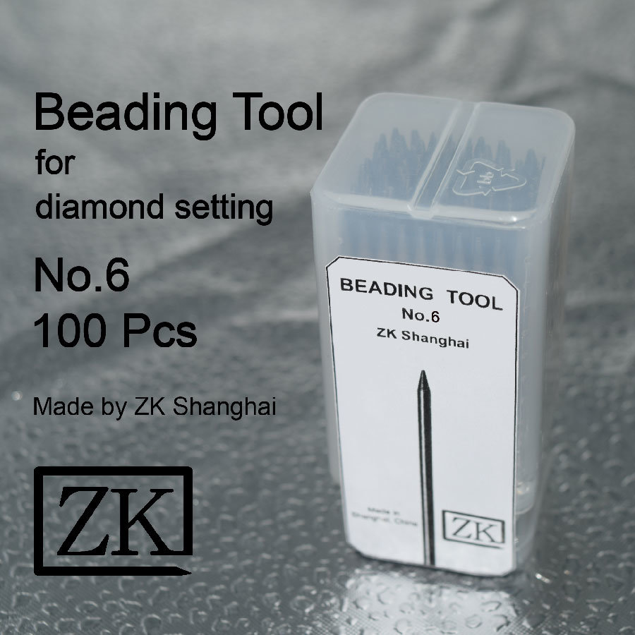 Beading Tools - No. 6 - 100 Pieces - Stone Setting Tools