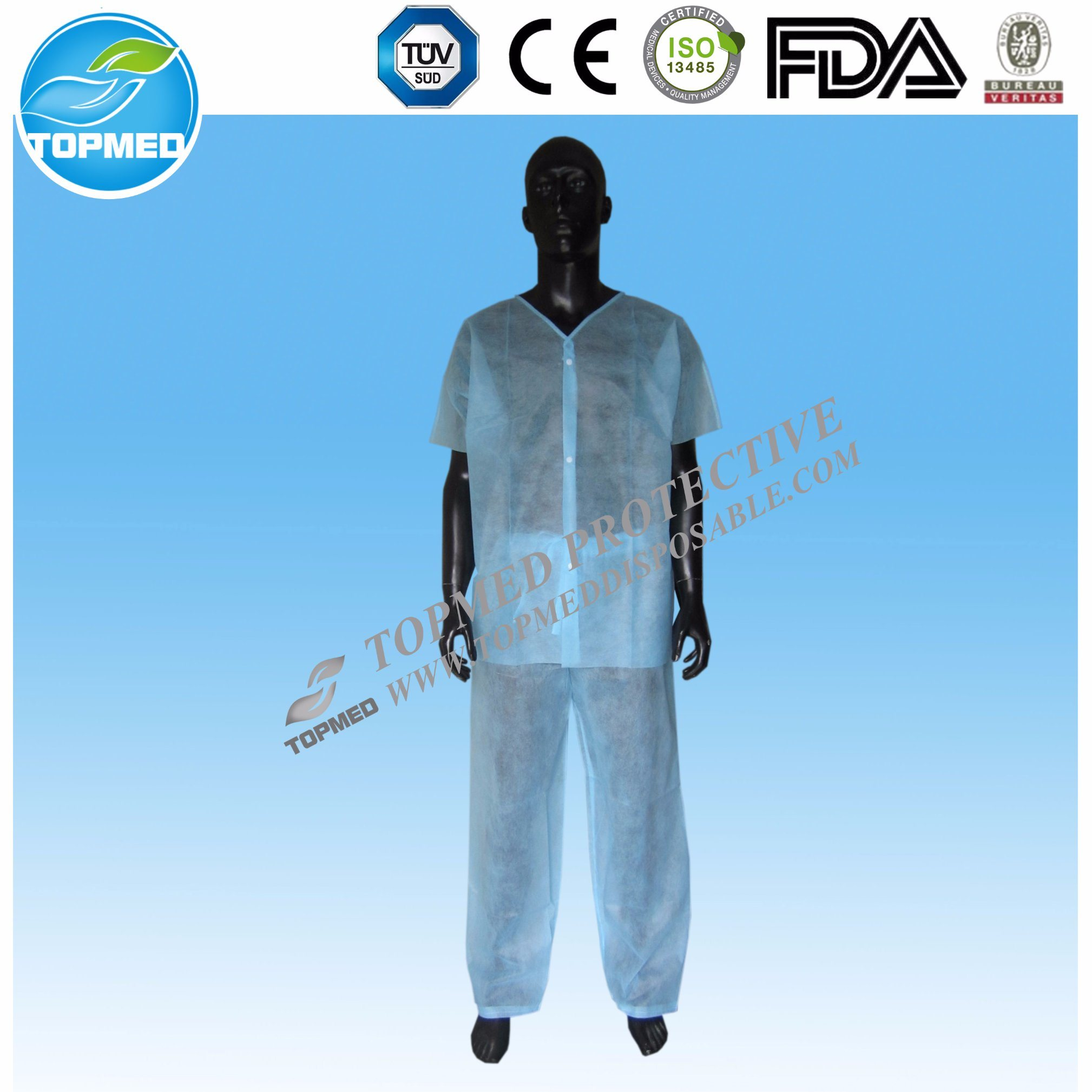 Nonwoven Disposable for Hospital SMS Scrub Suit
