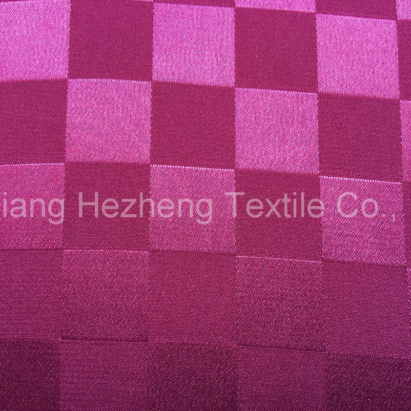 Garment Polyester Jacquard Spandex Satin