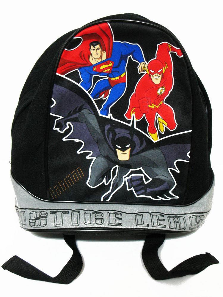 Justice League Bat Hood Boys Childrens Kids Hoody School Bag Backpack