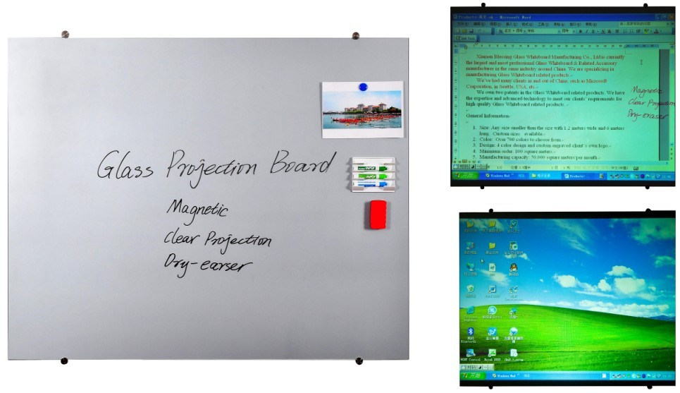 High Quality Magnetic Glass Projection Screen