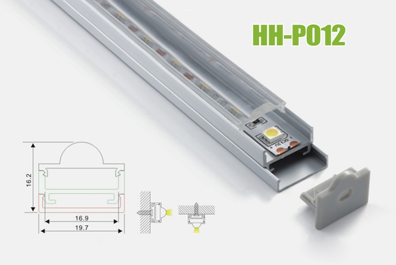Hh-P012 Surface Mounted LED Aluminum Profiles