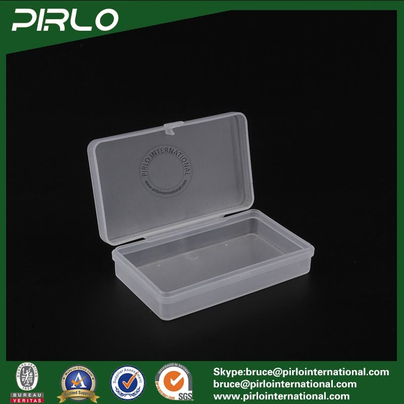 Rectangular Translucent Color PP Plastic Box with Hing Lid Multifunctional Small Box
