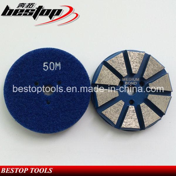 "3"" Hook & Loop Backed Diamond Concrete Grinding Disc Polishing Tools"