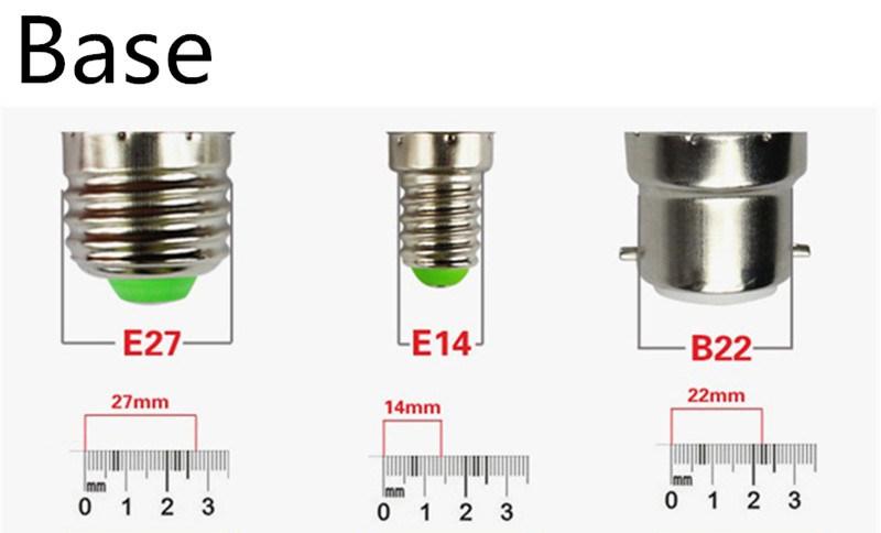 LED High Power Lamp Bulb E14 E27 9W