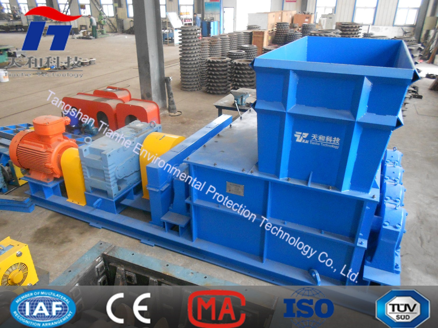 Double Toothed Roll Crusher Hammer Crusher Impact and Slime Crushing Machine