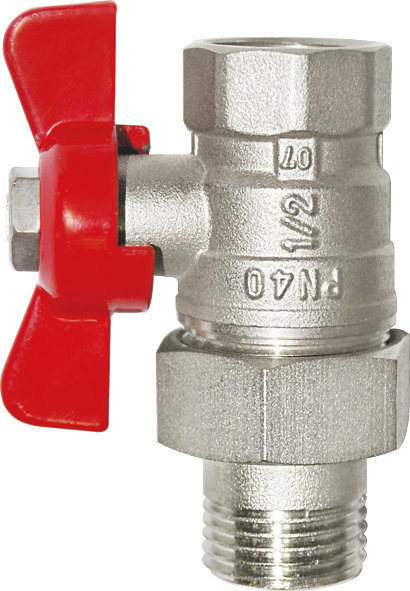 Nickel Plated Female/Male Thread Brass Butterfly Ball Valve