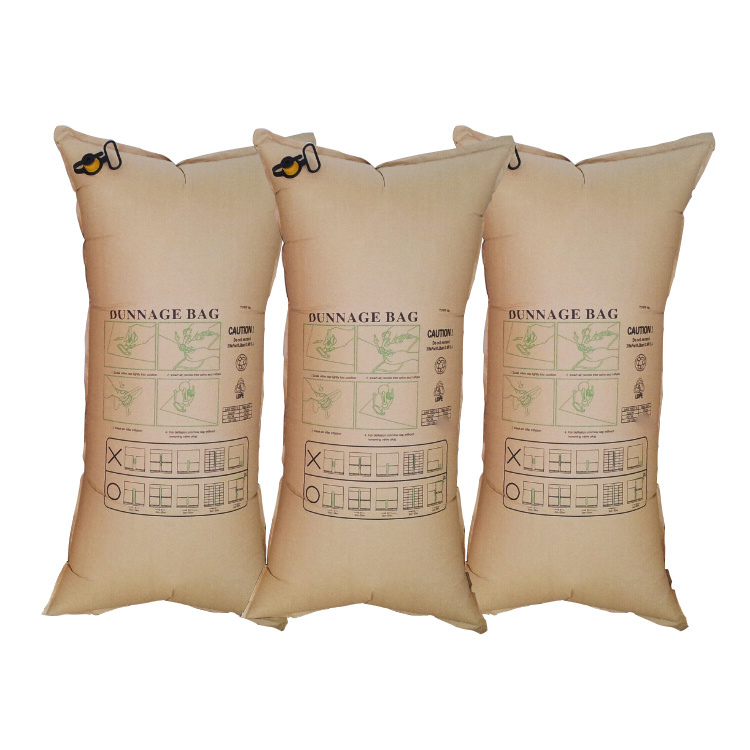 Cheap Kraft Paper Container Loading Dunnage Bags for Glass Shipping