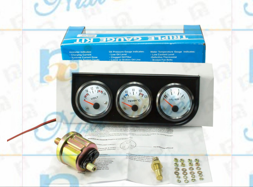 """2"""" 52mm 40-120 Automotive Water Temperature Gauge of White Light"""
