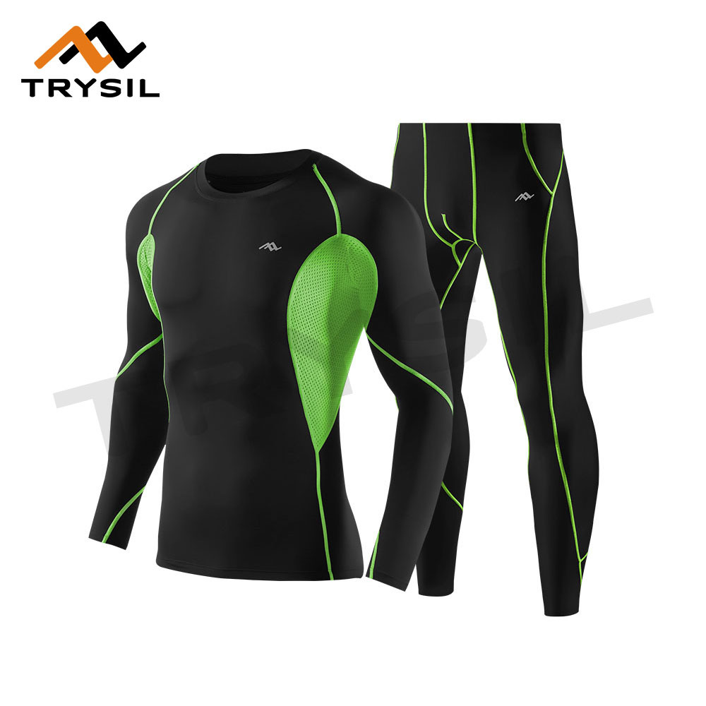 Men Sport Shirt and Leggings for Gym Suit