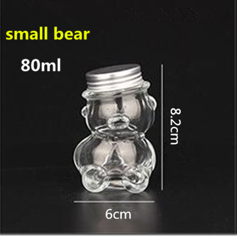 Bear Shape Glass Wishing Bottle. Bottle Filled with Candy. Gift Bottle