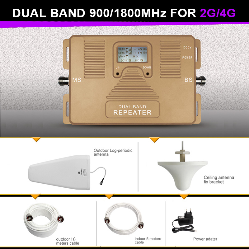 Real Smart Dual Band 900/1800MHz Signal Booster 2g 4G Repeater