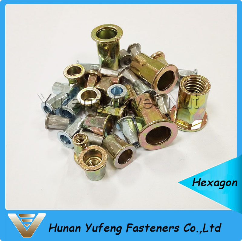 Flat Head Half Hexagon Rivet Nut