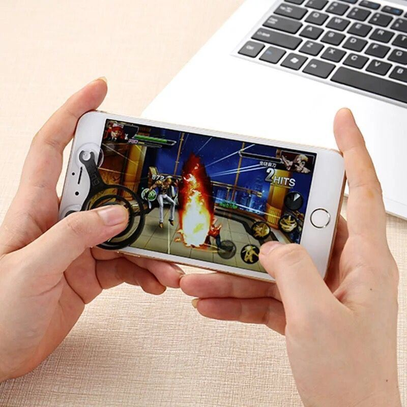 Touch Screen Dual-Stick Joysticks Mobile Joystick for Smartphone Playing Game
