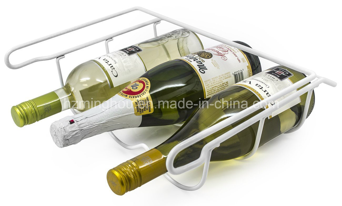 3 Bottle Drink Universal Metal Fridge Wine Bottle Storage Rack