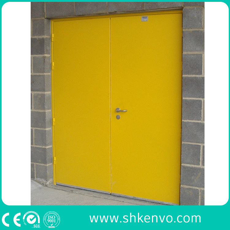 Commercial Double or Single UL and FM Certified Panic Fire Rated Metal Door with Vision Panel