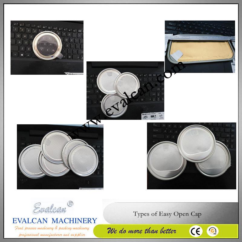 Easy Tear Milk Powder, Coffee Powder Drum Cap Making Machine