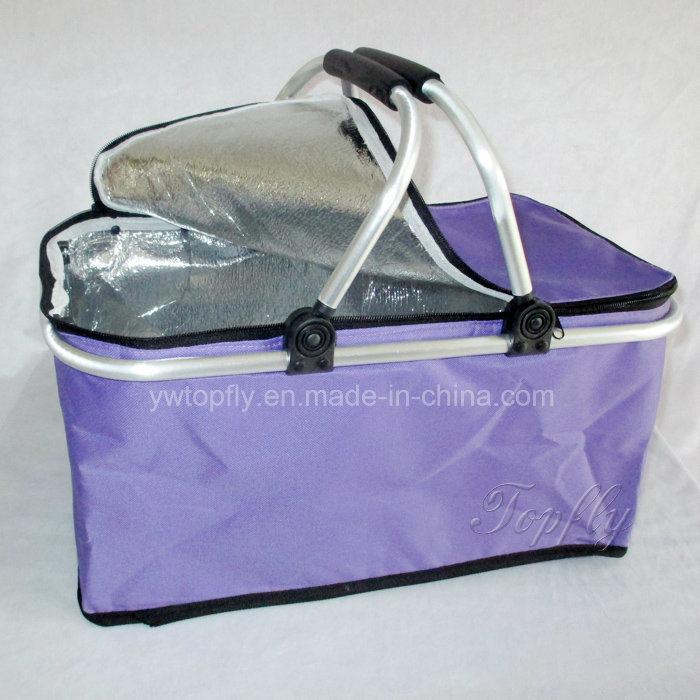 Wholesale Foldable Portable Cooler Basket Picnic Basket Shopping Basket