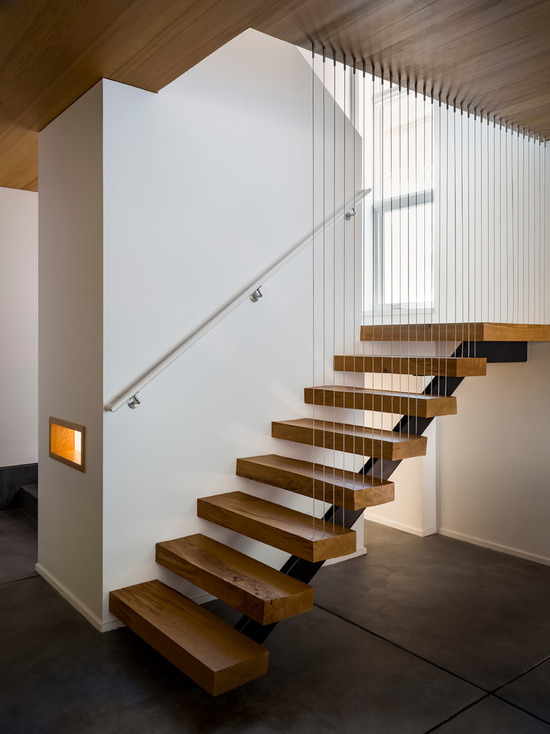 Interior Steel Glass Stair, Modern Steel Glass Stair, Indoor Glass Fencing Stairs