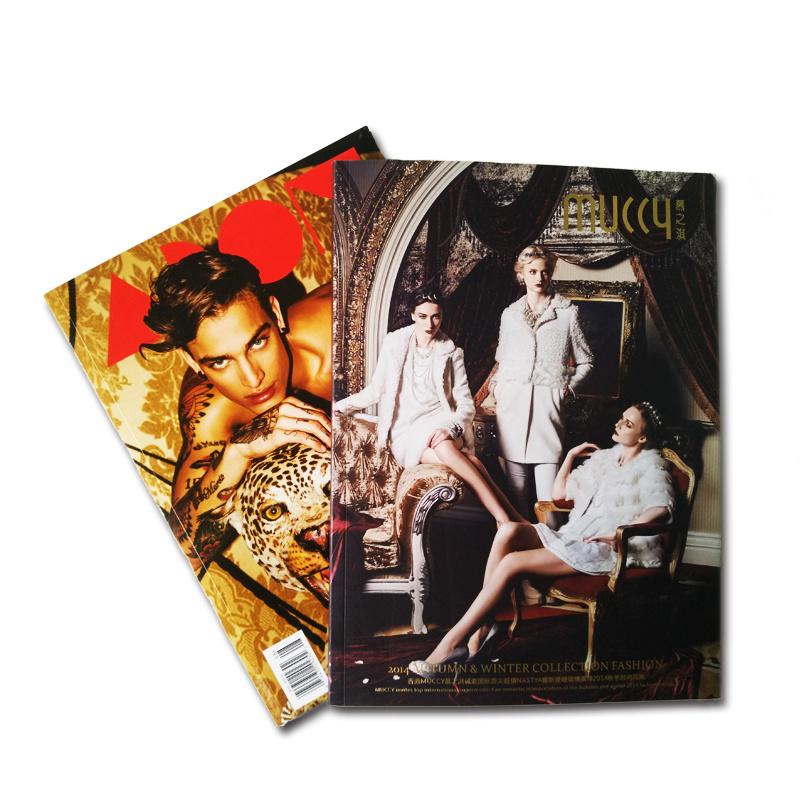 Professional Custom Coated Ppaer Fashion Magazine Printing