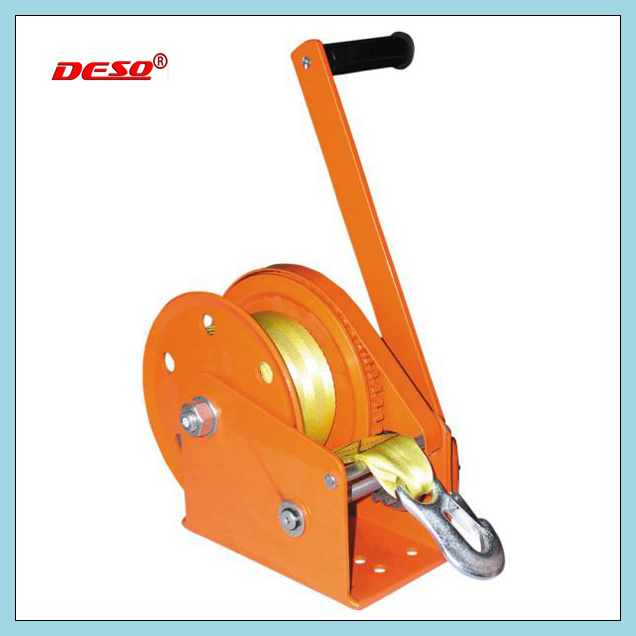 Horizontal Hand Winch with Cable/Strap
