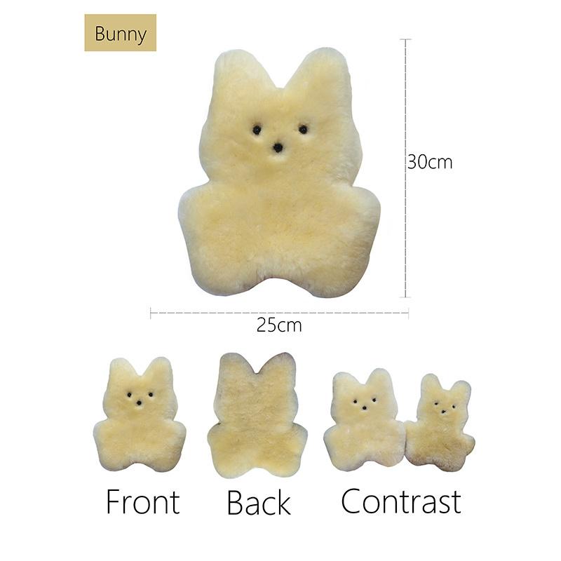 Cuddle Sheepskin Bunny Toy Sheepskin Toy for Baby