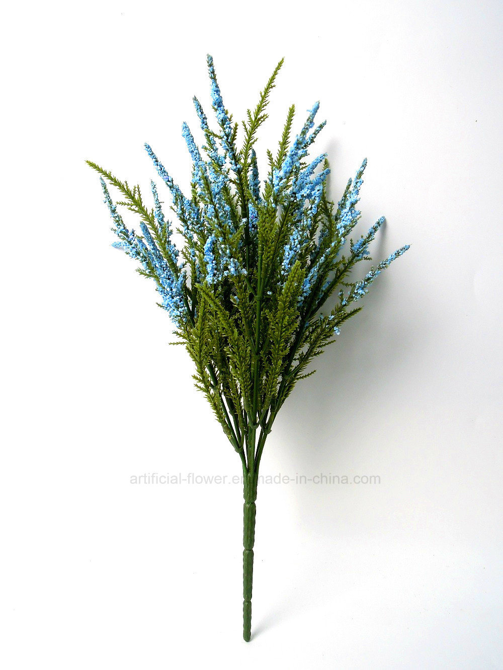Artificial Fluffy Pine Bush with Colourful Flower X 7 for Decoration