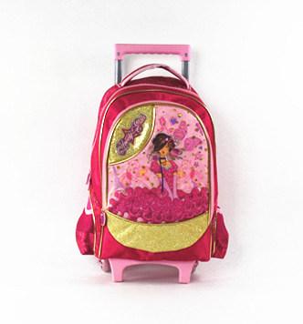 Girl Children Student School Trolley Bag in Good Price