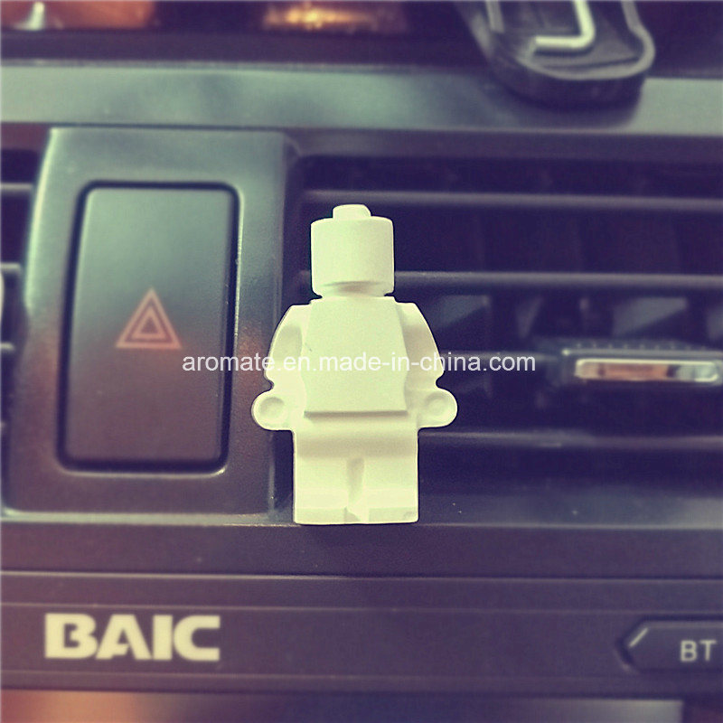 White Robot Scented Ceramic Car Aroma Diffuser (AM-140)