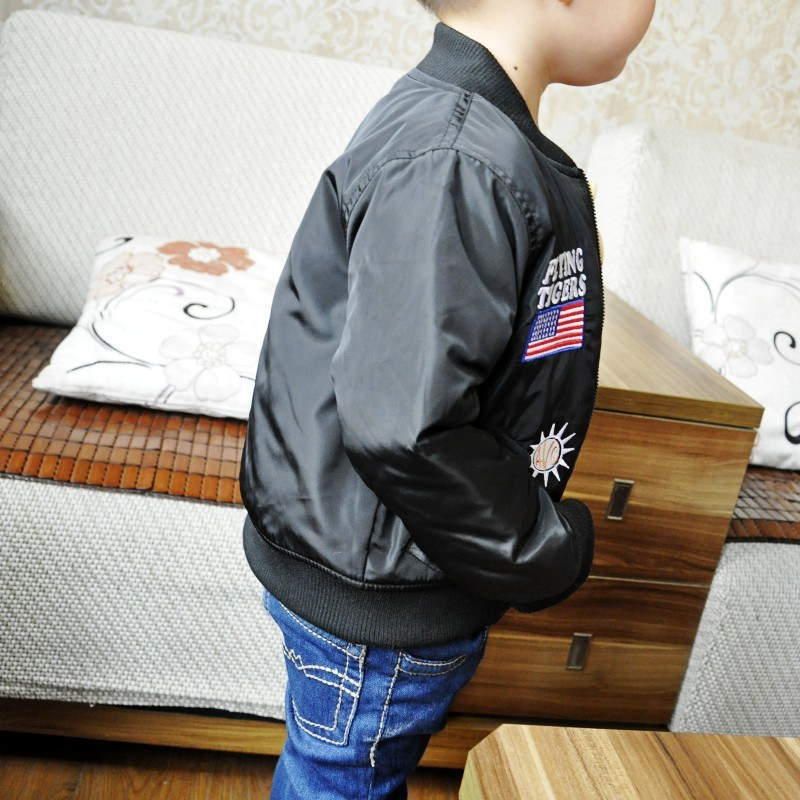 Girls Boys Black Jacket